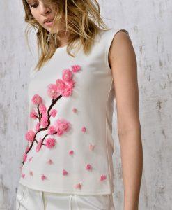 Embroidered-appliquéd-top