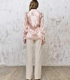 Blouse silk quartz back_Silk blouse_ID371