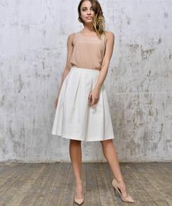 Linen-midi-skirt