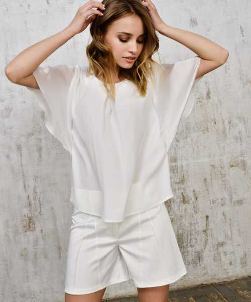 Silk white blouse 2