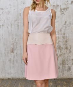 Tank silk & Skirt leather