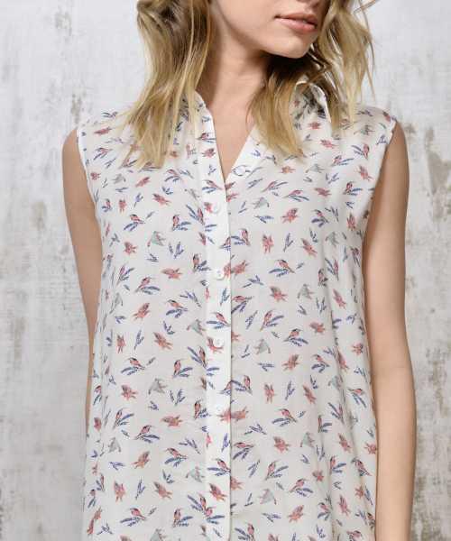 Silk blouse birds 600