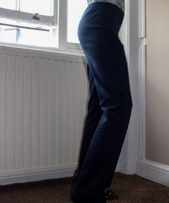 Cotton blend navy pants