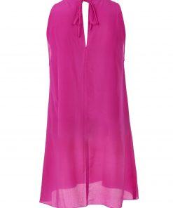 Fuchsia-silk-chiffon-dress