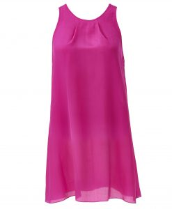 Fuchsia-silk-chiffon-dress-front