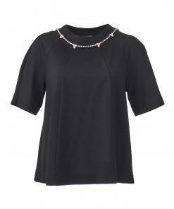 Swarovski Pearl-embellished top black
