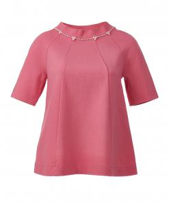 Swarovski Pearl-embellished top pink