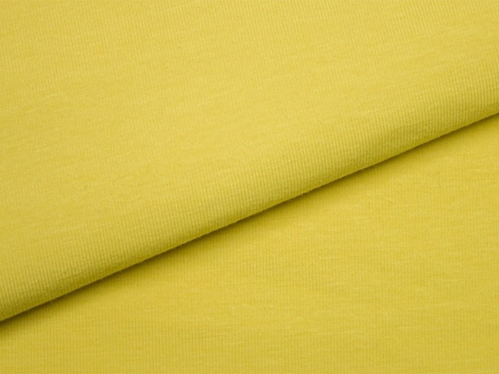 Organic jersey fabric – Mellow Yellow