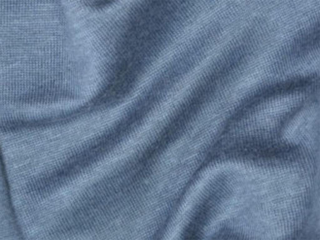 NEW! Органическое джерси лен – дымчато-голубой цвет