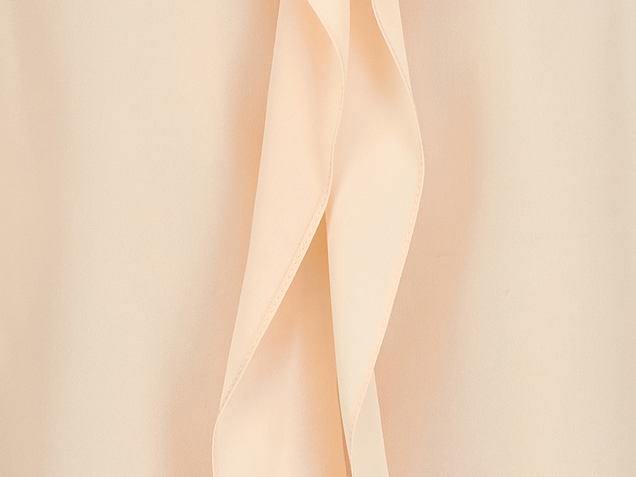 Peach crepe silk