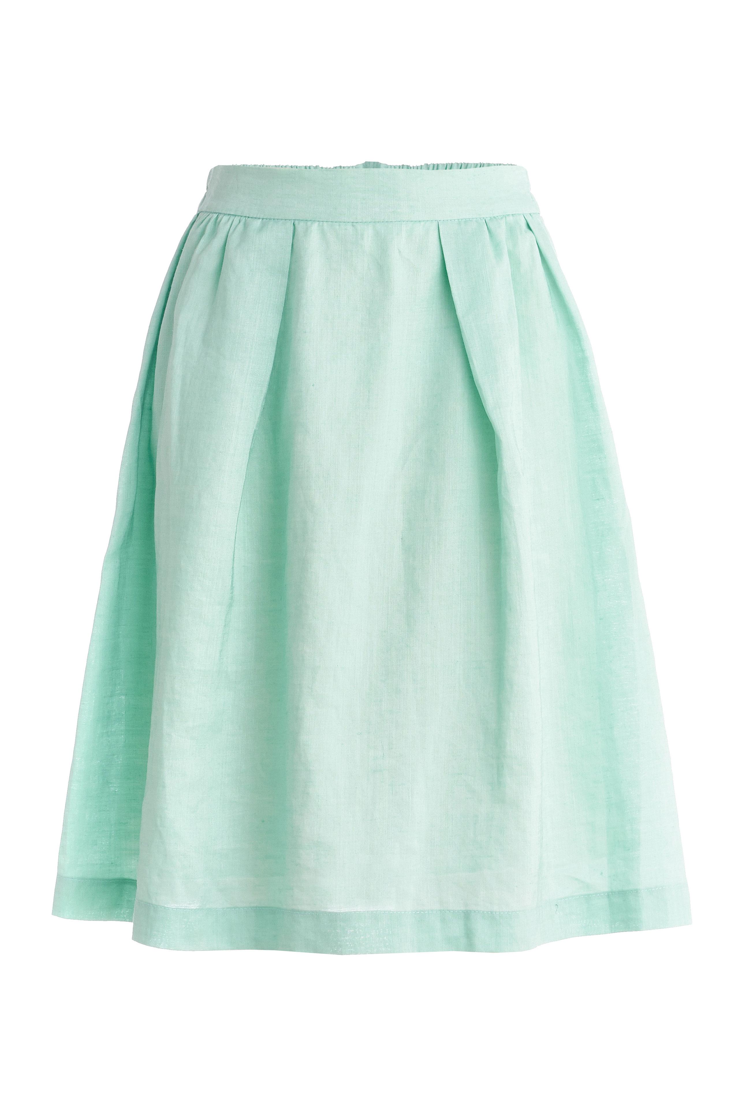 Mint-ramie-skirt