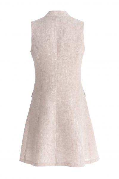 бежевое-льняное-платье